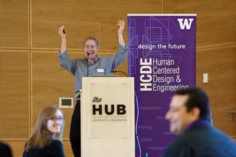 "David McDonald, HCDE Chair, gave a ""State of HCDE"" presentation"