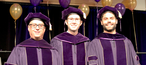 HCDE 2015 PhD Graduates: Robert Bennett Watson, Michael J. Brooks, and Daniel Perry