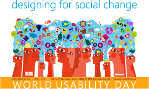 World Usability Day poster: Designing for Social Change