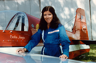 Aragon with her plane