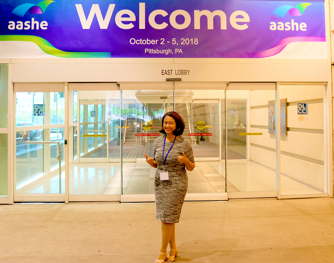 Meghna Bhairappa at the AASHE conference